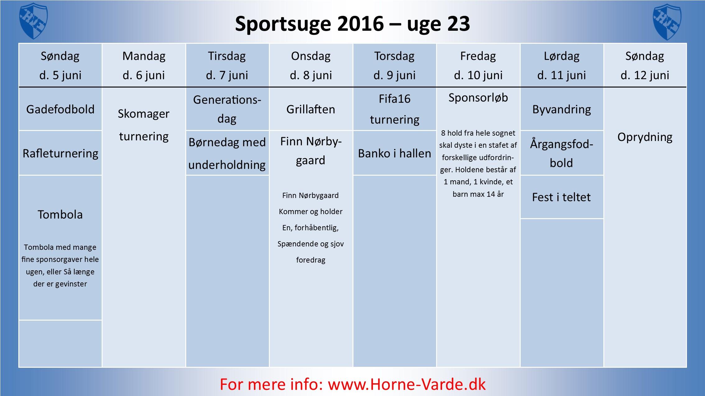 Sporsugeplan 2016